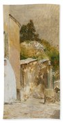 Spring Morning At Montmartre Beach Towel by Childe Hassam