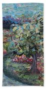 Spring Mountain Flowers Beach Towel