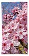 Spring Pink Tree Blossoms Art Print Baslee Troutman Beach Towel