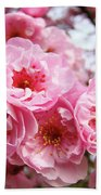 Spring Pink Tree Blossoms Art Prints Baslee Troutman Beach Towel
