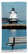 Spring Point Ledge Lighthouse Beach Towel