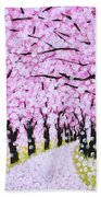 Spring Road  Beach Towel