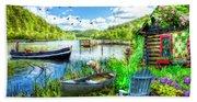 Spring Serenity At Lakeside Beach Sheet