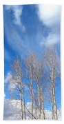 Spring Sky And Cotton Trees Beach Towel