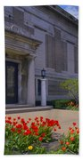Spring Time At The Muskegon Museum Of Art Beach Towel