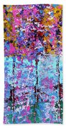Spring Time In The Woods Abstract Oil Painting Beach Towel