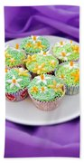 Spring Time Is Cupcake Time Beach Towel