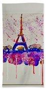 Spring Time. Paris. Eiffel Tower.  Beach Towel
