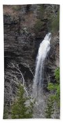 Spring Waterfall At Petit Jean Beach Towel