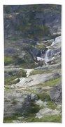 Spring Waterfall In The Tetons Beach Towel