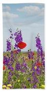 Spring Wild Flowers Meadow Beach Towel