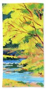 Spring Willow Beach Towel