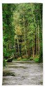 Spring Woods Greenery Beach Towel
