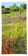 Spring's Floral Quilt Beach Towel