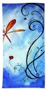 Springs Sweet Song Original Madart Painting Beach Towel