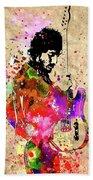 Springsteen Colored Grunge Beach Towel