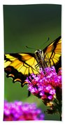 Springtime Butterfly Beach Towel