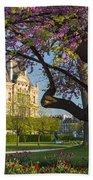 Springtime In Paris Beach Towel by Brian Jannsen