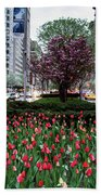 Springtime On Park Avenue Beach Towel