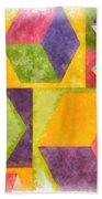 Square Cubes Abstract Beach Towel