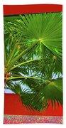 Square Palm Beach Towel