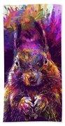 Squirrel Animals Possierlich Nager  Beach Towel