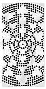 Sri Dots Beach Towel by Robert Thalmeier