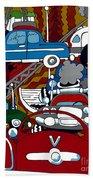 Ss Studebaker Beach Towel by Rojax Art