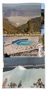 Saline Valley Collage Beach Towel