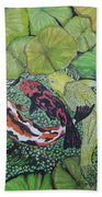 Summer Pond At Lunchtime Beach Towel
