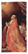 St Andrew Corsini In Prayer 1635 Beach Towel