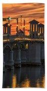St Augustine Bridge Of Lions Sunset Dsc00565_16 Beach Towel