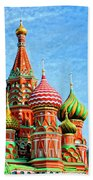 St. Basil's Cathedral Moscow Beach Towel