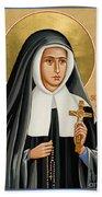 St. Bernadette Of Lourdes - Jcbsl Beach Towel