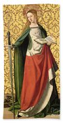 St. Catherine Of Alexandria Beach Towel by Josse Lieferinxe
