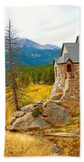 St. Catherine's Church In Autumn Beach Towel