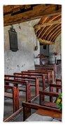 St Celynnin Church  Interior Beach Towel