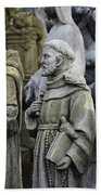 St Francis Statues Beach Towel