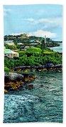 St. George Bermuda Shoreline Beach Towel