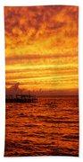 St. George Island Sunset Beach Towel