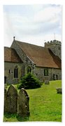 St George's Church At Arreton Beach Towel by Rod Johnson