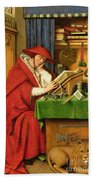 St. Jerome In His Study  Beach Towel