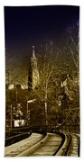 St. John The Baptist From The Rail Road Trestle In Manayunk Beach Towel