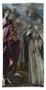St. John The Evangelist And St. Francis Of Assisi Beach Towel
