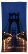 St Johns Bridge Shine Beach Towel