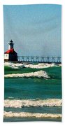 St. Joseph River Lighthouse Beach Towel