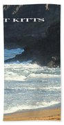 St Kitts Poster Beach Towel