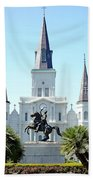 St. Louis Cathedral From Jackson Square Beach Towel