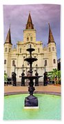 St. Louis Cathedral - New Orleans - Louisiana Beach Towel