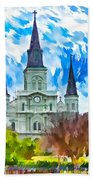 St. Louis Cathedral - Paint Beach Towel